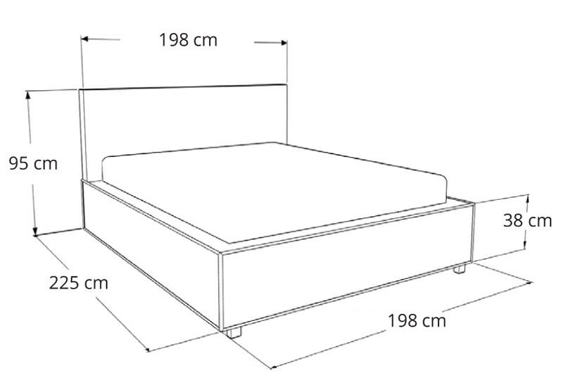 Łóżko tapicerowane Porto Mini