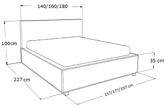 łóżko Tapicerowane Marina