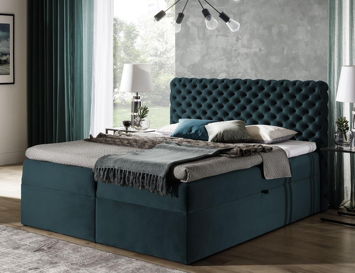 Łóżko kontynentalne Chesterfield
